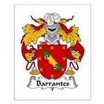 Barrantes Family Crest Small Poster