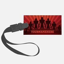 Personalized American Football Luggage Tag
