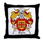 Barco Family Crest Throw Pillow