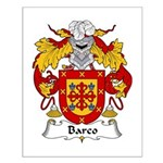 Barco Family Crest Small Poster