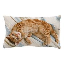 Reclining Kitten Pillow Case