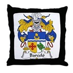 Barcelo Family Crest Throw Pillow