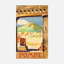 Pompei Italy ~ Vintage Travel Sticker (Rectangle)