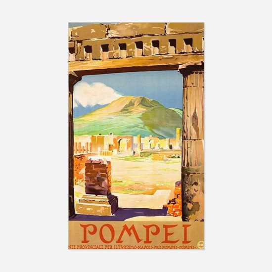 Pompei Italy ~ Vintage Travel Sticker (Rectangle)