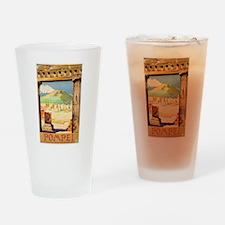 Pompei Italy ~ Vintage Travel Drinking Glass