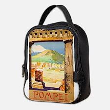 Pompei Italy ~ Vintage Travel Neoprene Lunch Bag