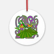 Grasshopper Round Ornament