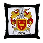 Barbo Family Crest Throw Pillow