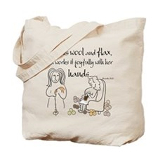 proverbs 31_13v2.png Tote Bag