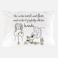 proverbs 31_13v2.png Pillow Case