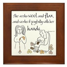 proverbs 31_13v2.png Framed Tile