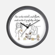 proverbs 31_13v2.png Wall Clock