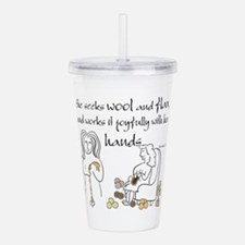 proverbs 31_13v2.png Acrylic Double-wall Tumbler