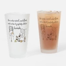 proverbs 31_13v2.png Drinking Glass