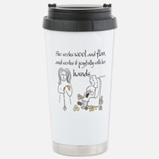 proverbs 31_13v2.png Travel Mug