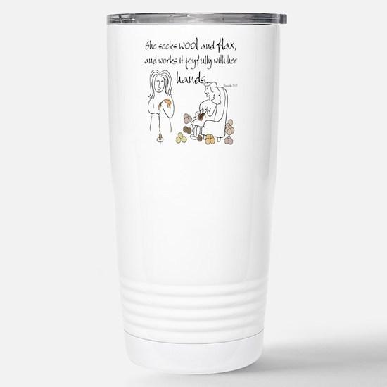 proverbs 31_13v2.png Travel Mug