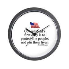 GOVERNMENT'S FIRST DUTY IS TO PROTECT T Wall Clock