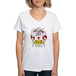 Barbena Family Crest Women's V-Neck T-Shirt