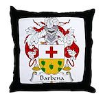 Barbena Family Crest Throw Pillow