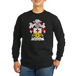 Barbena Family Crest Long Sleeve Dark T-Shirt