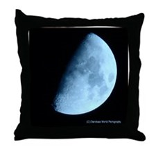 Light Blue Moon Throw Pillow