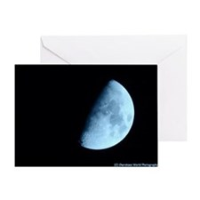 Light Blue Moon Greeting Card