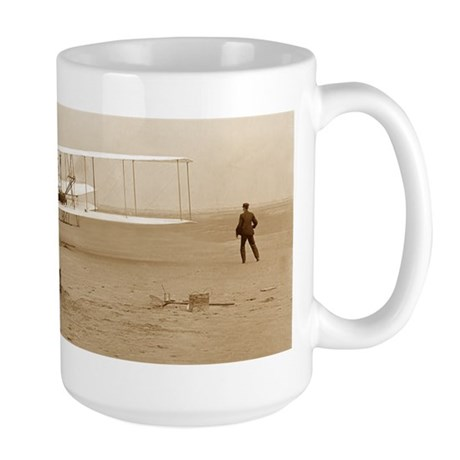 Wright Brothers' First Flight Large Mug