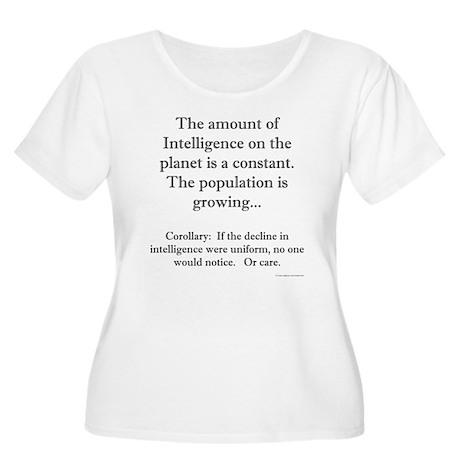 Constant Intelligence Women's Plus Size Scoop Neck