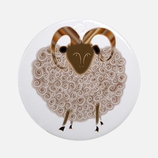 SHEEP.png Round Ornament