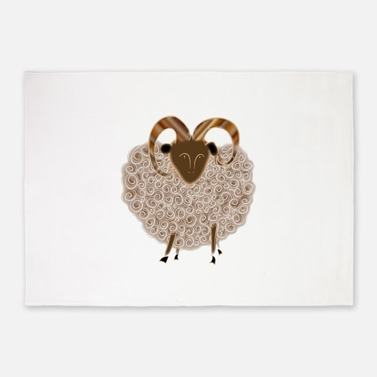 SHEEP.png 5'x7'Area Rug