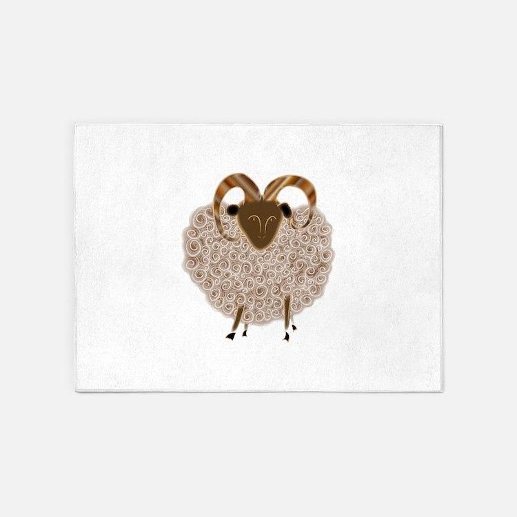 SHEEP.png 5'x7'Area Rug