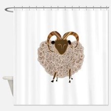 SHEEP.png Shower Curtain