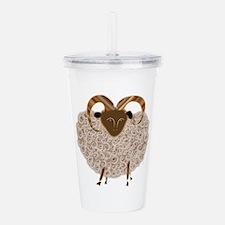 SHEEP.png Acrylic Double-wall Tumbler