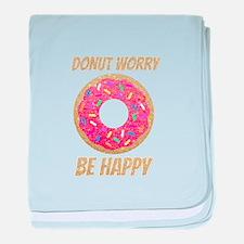Donut Worry Be Happy baby blanket