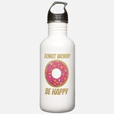 Donut Worry Be Happy Water Bottle