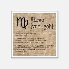"Virgo Square Sticker 3"" x 3"""