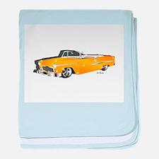 Classic orange baby blanket