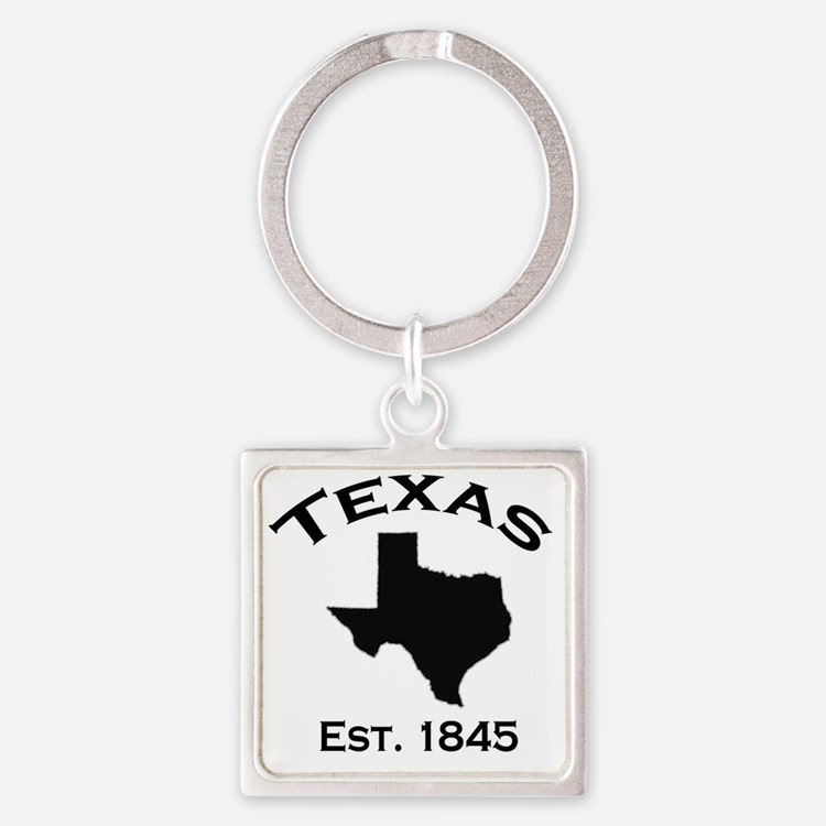 Cute Texas state outline Square Keychain