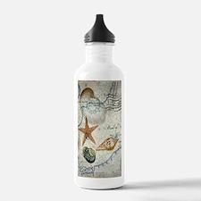 vintage nautical beach Water Bottle