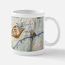 vintage nautical beach sea shells Mugs