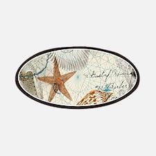 vintage nautical beach sea shells Patch