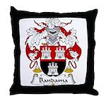 Bandama Family Crest  Throw Pillow