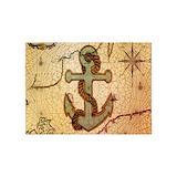 Seashell nautical vintage 5x7 Rugs