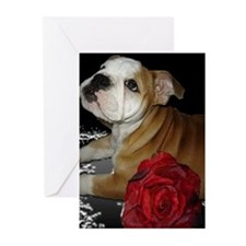 Bulldog Love Greeting Cards (Pk of 10)