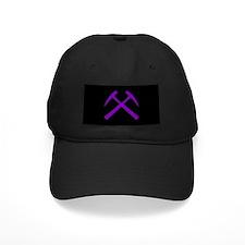 Purple Crossed Rock Hammers Baseball Hat
