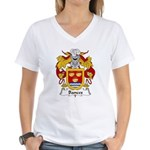 Bances Family Crest Women's V-Neck T-Shirt