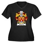 Bances Family Crest Women's Plus Size V-Neck Dark