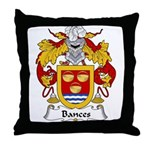 Bances Family Crest Throw Pillow