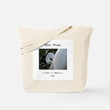 Egret Totem Power Peace Grace Tote Bag