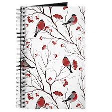 Winter Birds White Journal